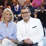 Jorge Javier Vázquez y Lucía Pariente en la gala de 'Supervivientes 2017'