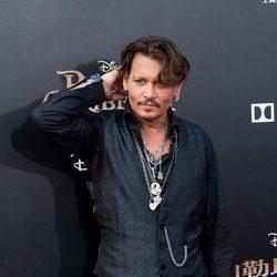 Johnny Depp en la presentación de la nueva película de 'Piratas del Caribe'