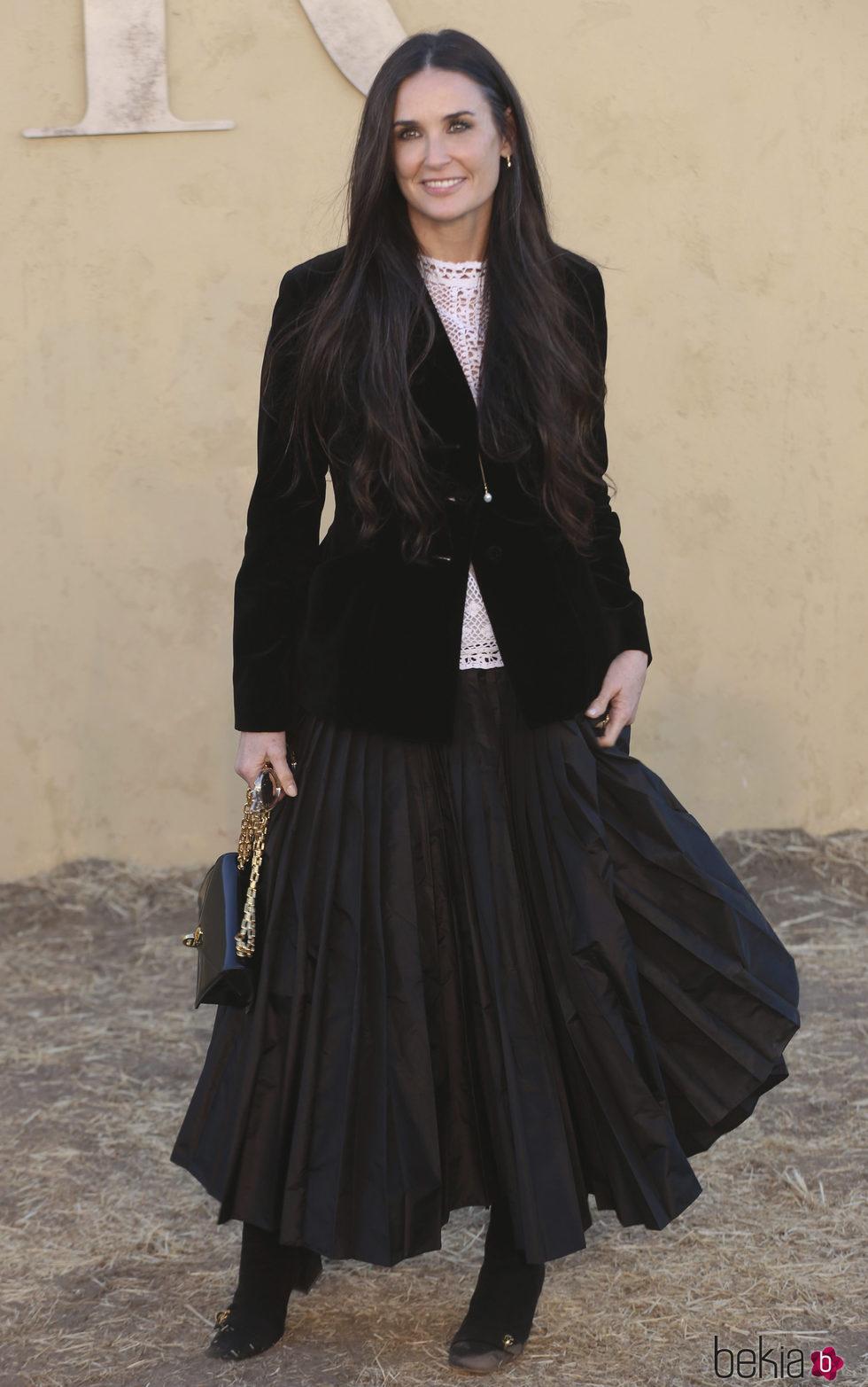 Demi Moore en la presentación de la colección Crucero de Dior 2017