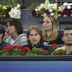 Sergio Ramos, Luka Modric y Kovacevi en el Open de Madrid 2017