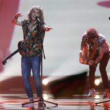 Manel Navarro en la final del Festival de Eurovisión 2017