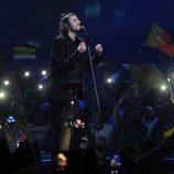 Salvador Sobral durante su actuación en el Festival de Eurovisión 2017