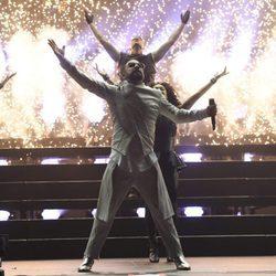 AJ McLean de los Backstreet Boys actuando en el Festival Wango Tango 2017