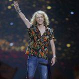 Manel Navarro al finalizar su actuación en la final del Festival de Eurovisión 2017