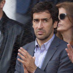 Raúl González en la semifinal del Open de Madrid 2017