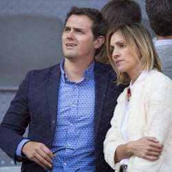 Albert Rivera y Beatriz Tajuelo en la semifinal del Open de Madrid 2017