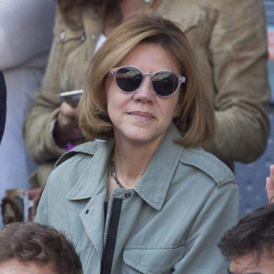 María Dolores de Cospedal en la semifinal del Open de Madrid 2017