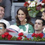 Paula Echevarría muy sonriente en el Open de Madrid 2017