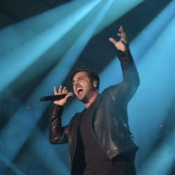 David Bustamante durante un concierto en Madrid