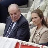 El Rey Juan Carlos y Infanta Elena en la corrida de toros del día de San Isidro 2017