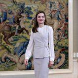 La Reina Letizia en su último acto oficial antes de la Comunión de la Infanta Sofía