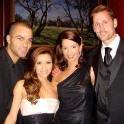 Tony Parker y Eva Longoria con Brent y Erin Barry