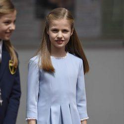 La Princesa Leonor llegando a la Primera Comunión de su hermana la Infanta Sofía