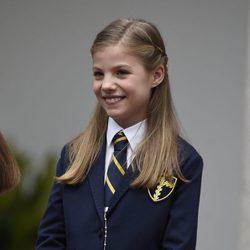La Infanta Sofía, muy feliz en su Comunión