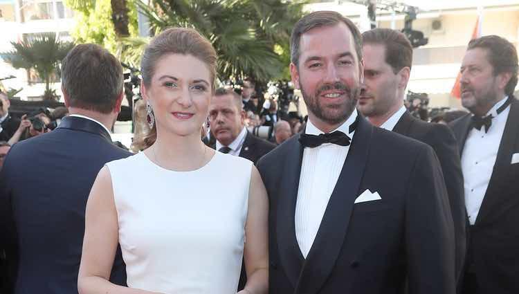 Guillermo de Luxemburgo y Stéphanie de Lannoy en la gala inaugural del Festival de Cannes 2017