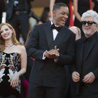 Jessica Chastain, Will Smith y Pedro Almodóvar en la gala inaugural del Festival de Cannes 2017