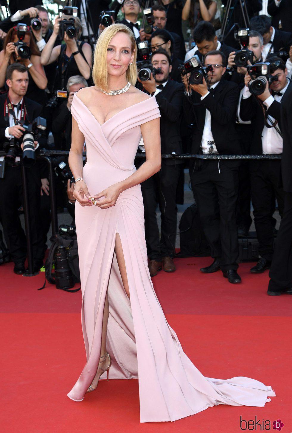 Uma Thurman en la gala inaugural del Festival de Cannes 2017