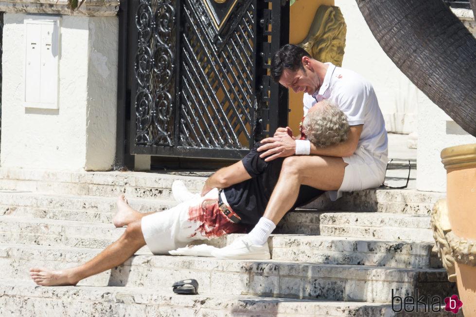 Ricky Martin en una escena de 'Versace: American Crime Story'