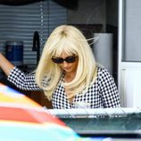 Penélope Cruz grabando 'Versace: American Crime Story'