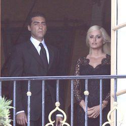 Penélope Cruz grabando en el balcón de la mansión de Versace