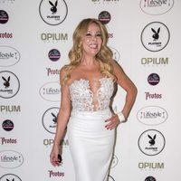 Ana Obregón en la presentación de la revista Playboy España