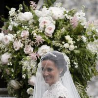 Pippa Middleton llegando a la iglesia St Mark para celebrar su boda