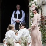 Kate Middleton, con los niños de las arras en la boda de su hermana Pippa Middleton