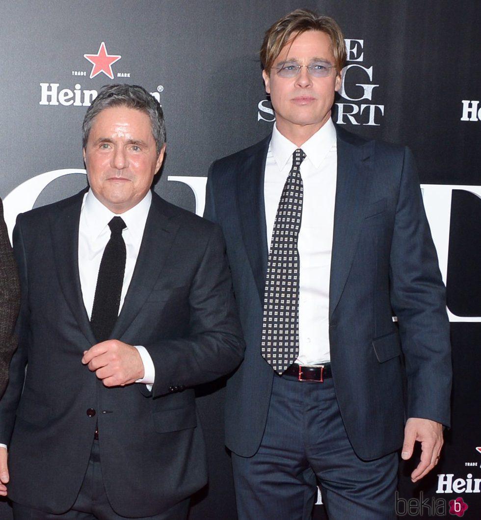 Brad Grey y Brad Pitt en la premiere de 'The Big Short'