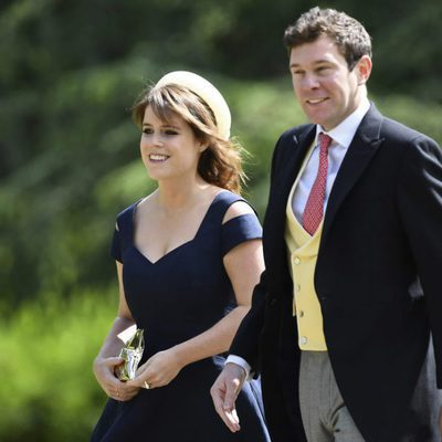 La Princesa Eugenia de York  y Jack Brooksbank en la boda de Pippa Middleton