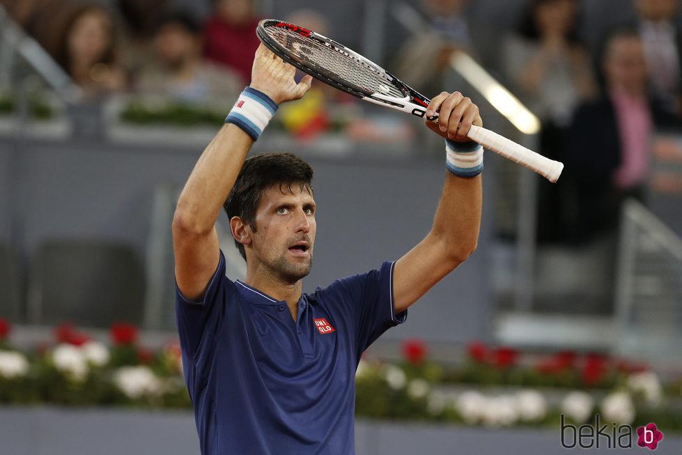 Novak Djokovic en el Mutua Madrid Open 2017