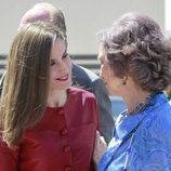 La Reina Letizia, muy cariñosa con la Reina Sofía en el 40 aniversario de la Fundación Reina Sofía