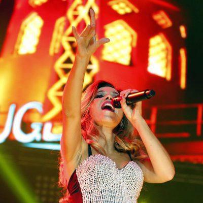 Natalia Rodríguez durante el concierto 'OT El Reencuentro' en Barcelona