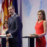 Los Reyes Felipe y Letizia entregan las becas 'la Caixa' en Barcelona
