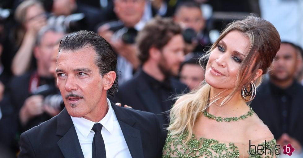 Antonio Banderas y su novia Nicole Kimpel en el Festival de Cannes 2017