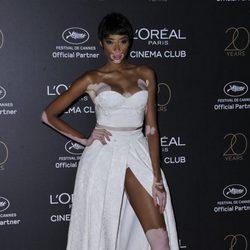 Winnie Harlow en la fiesta de L'Oreal en Cannes 2017