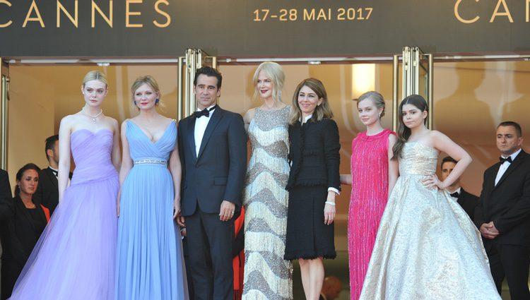 Todo el equipo de 'La seducción' en el Festival de cine de Cannes 2017