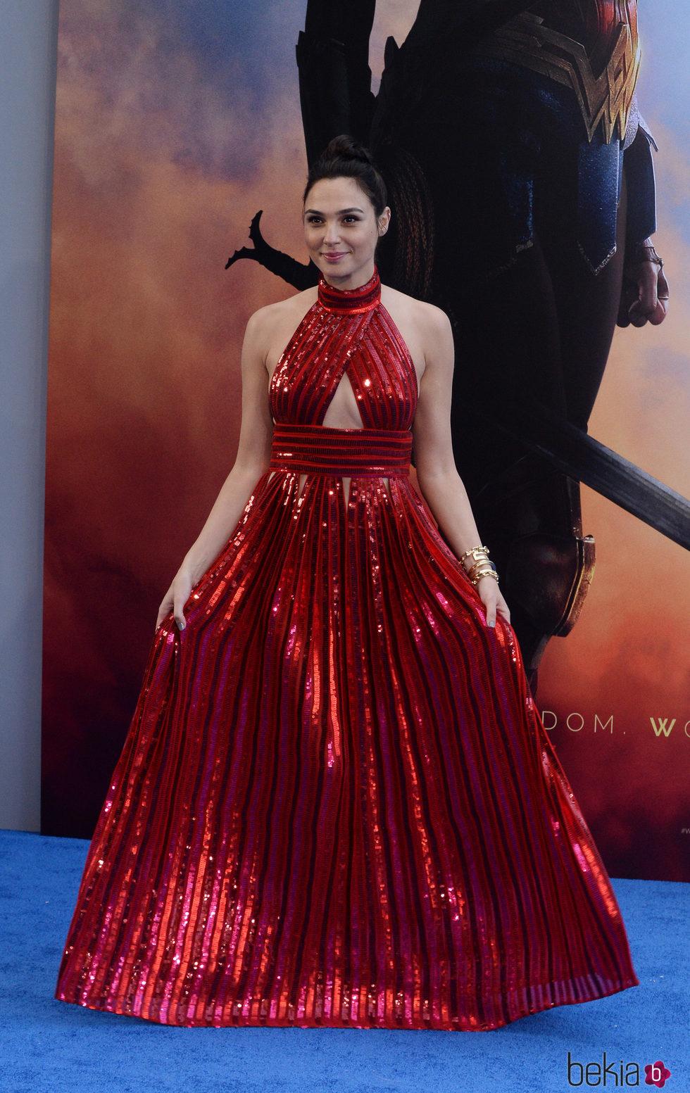 Gal Gadot en el estreno de 'Wonder Woman' en Los Angeles