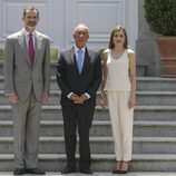 Los Reyes Felipe y Letizia con el presidente de Portugal en un almuerzo en La Zarzuela