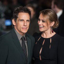 Ben Stiller y Christine Taylor en la premiere de 'Noche en el museo'