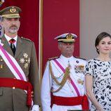 Los Reyes Felipe y Letizia en el desfile del Día de las Fuerzas Armadas 2017