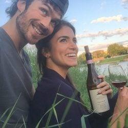 Ian Somerhalder y Nikki Reed celebrando el cumpleaños de ella