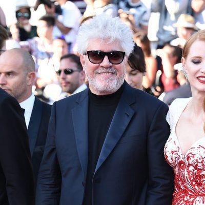 Pedro Almodóvar en la gala de clausura de Cannes 2017