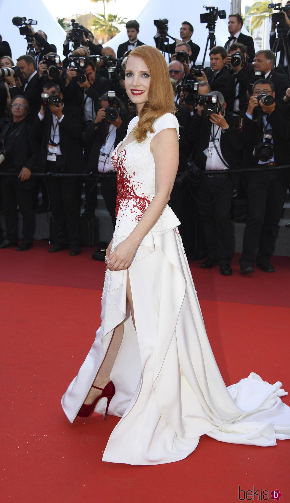 Jessica Chastain en la gala de clausura de Cannes 2017