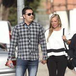 Belén Esteban con su novio Miguel llegando a los Juzgados de Torrejón de Ardoz