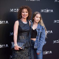 Vicky Larraz en la presentación de 'La Momia' en Madrid