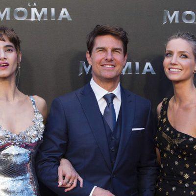 Sofia Boutella, Tom Cruise y Annabelle Wallis en la presentación de 'La Momia' en Madrid