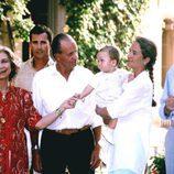Los Reyes Juan Carlos y Sofía, el Rey Felipe, la Infanta Elena, Jaime de Marichalar y Froilán en Mallorca