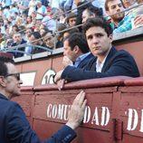 Froilán y José Ortega Cano viendo torear a Gonzalo Caballero en Las Ventas