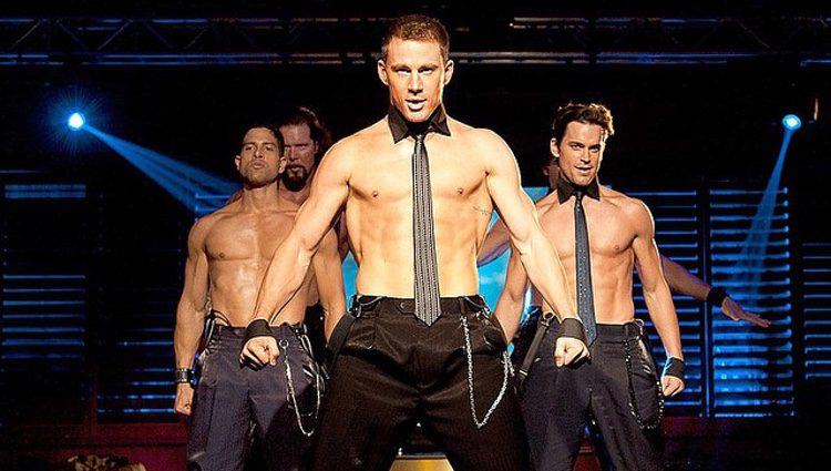 Channing Tatum, Matt Bomer y Adam Rodriguez en 'Magic Mike'