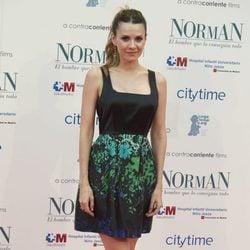 Elena Ballesteros en el estreno de 'Norman: el hombre que lo conseguia todo'